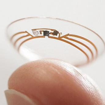 A contact lens Google is testing to explore tear glucose. (AP/Google)