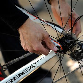 The lightweight mechanism can be fitted to any bike in 15 minutes