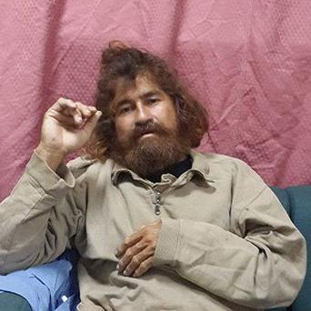 A man identifying himself as 37-year-old Jose Salvador Alvarenga after he was rescued from what he claims was a 13-month ordeal at sea (Marshall Islands Foreign Affairs Department/AP)