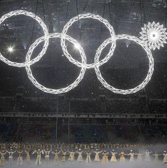 One of the rings forming the Olympic Rings fails to open