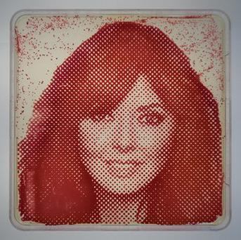 A portrait of Carol Vorderman grown from her own bacteria (The Big Bang UK Young Scientists and Engineers Fair/PA)