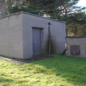 The nuclear bunker at Coswarth, Newquay, which is to go under the hammer (South West Water)