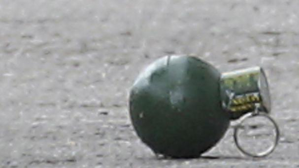A grenade found in a US street has been removed, police say