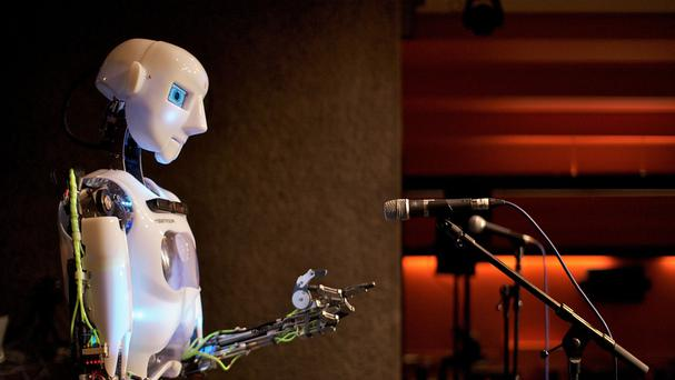 Human vs Robot, by Toby Harris, a PhD student at Queen Mary University of London's Cognitive Science Research Group, which was honoured in the national science photography competition organised by the Engineering and Physical Sciences Research Council