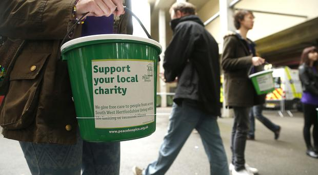 The amount of money given to charities has fallen