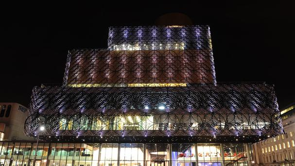 The landmark Library of Birmingham is still awaiting delivery of equipment to enable staff to retrieve items from a storage area.