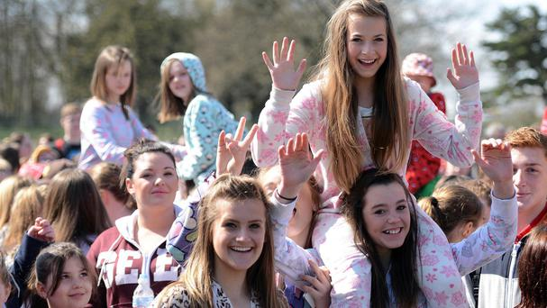 Drayton Manor Theme Park says 3,152 people gathered at its central triangle wearing onesies