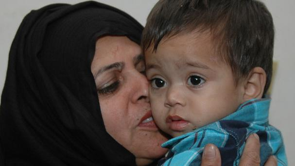 A nine-month-old Pakistani boy was caught up in an attempted murder investigation in Lahore (AP)