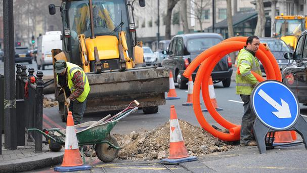 There are 2,387 miles of unfinished roadworks in Britain, according to estimates