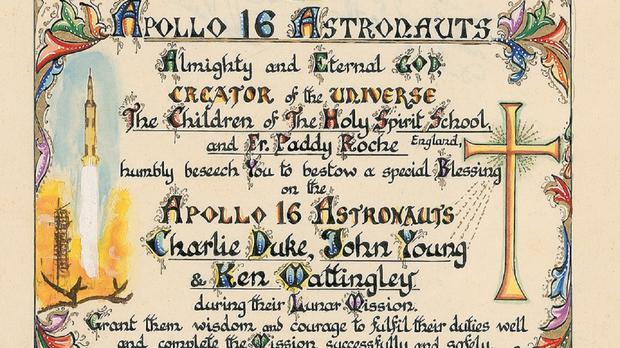 Apollo astronaut prayer for sale - Independent ie