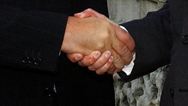 The strength of someone's handshake is an indicator of their true age, scientists have claimed
