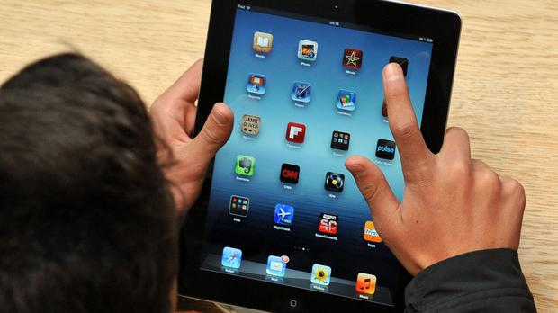 Apple and Samsung tablets were among the items stolen during the robbery