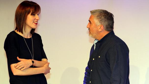 Paul Hollywood with Great British Bake Off winner Frances Quinn