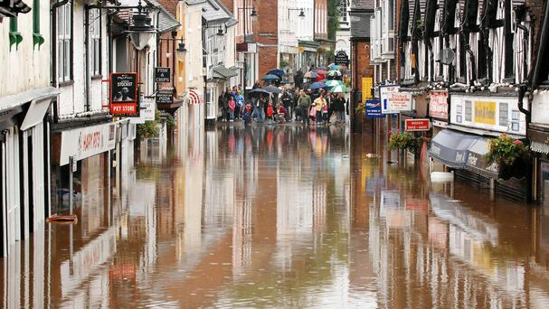 The chairman of the Environment Agency has suggested developers should consider building