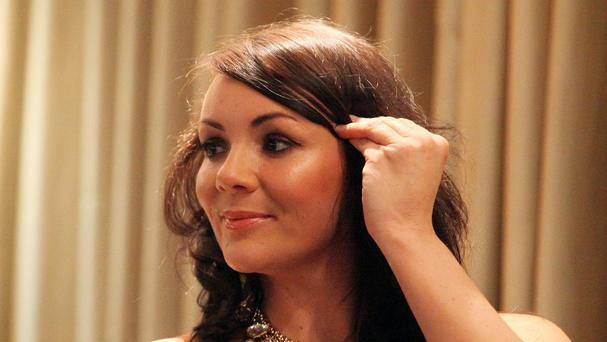 Martine McCutcheon was caught using the Queen's loo