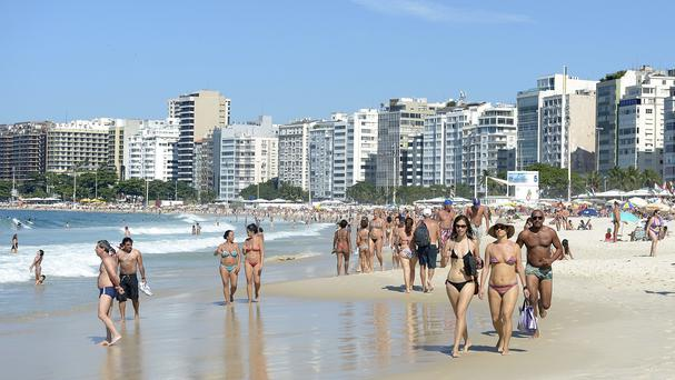 People enjoy the beach in Brazil's Rio de Janeiro - but where is it?