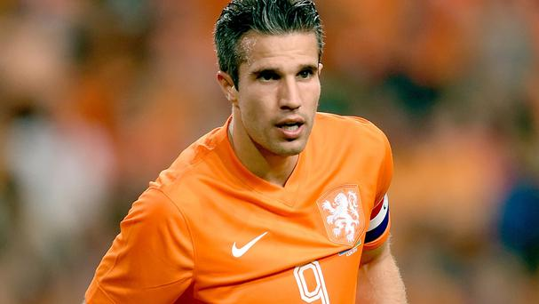Robin van Persie was not injured in the incident