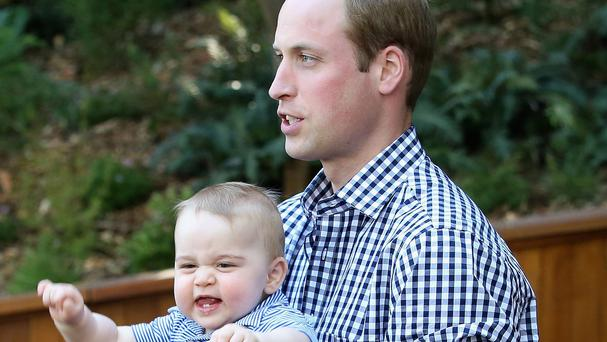 The Duke of Cambridge and Prince George are celebrating their first Father's Day