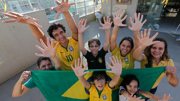 Members Of The Silva Family Show That They Each Have Six Fingers On Their Hands In