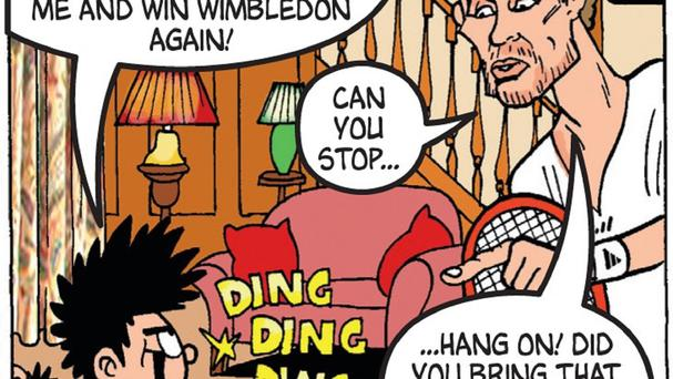 Andy Murray as he appears in the latest edition of the comic, The Beano, which he also guest edits.