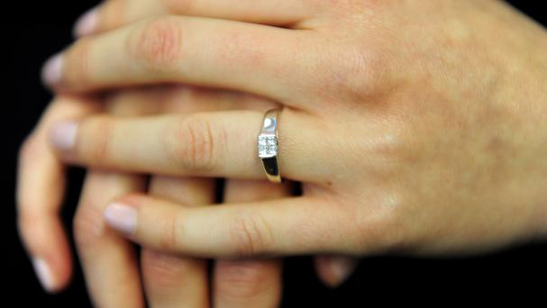 A dog coughed up a woman's missing wedding ring
