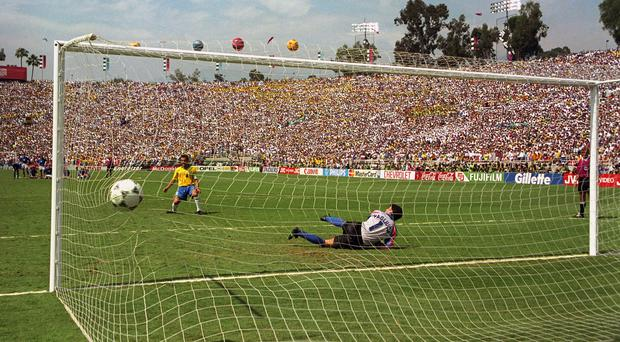 Action from the 1994 World Cup final in USA