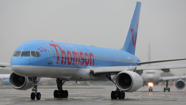 The Thomson Airways plane was diverted to Gatwick