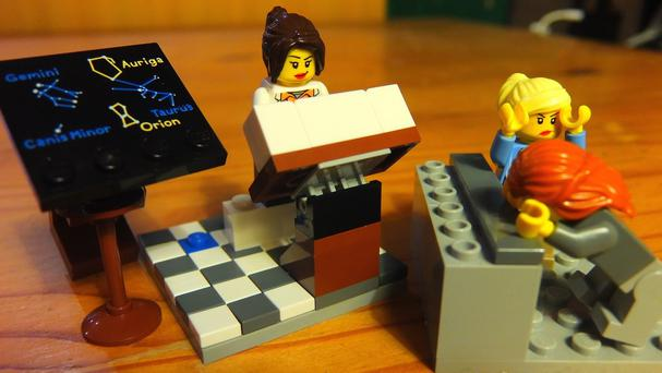 A Lego scene created by Dr Donna Yates for her twitter account @LegoAcademics, designed to promote a diverse and empowering view of academia to children (Dr Donna Yates/PA)