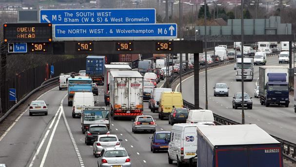Police said the women were posing for photos on the M6