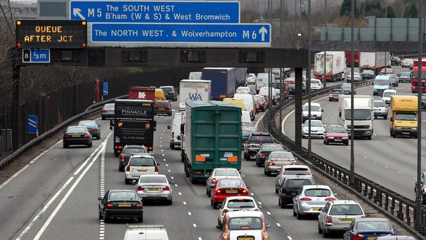 The man was stopped while driving south on the northbound carriageway of the M6
