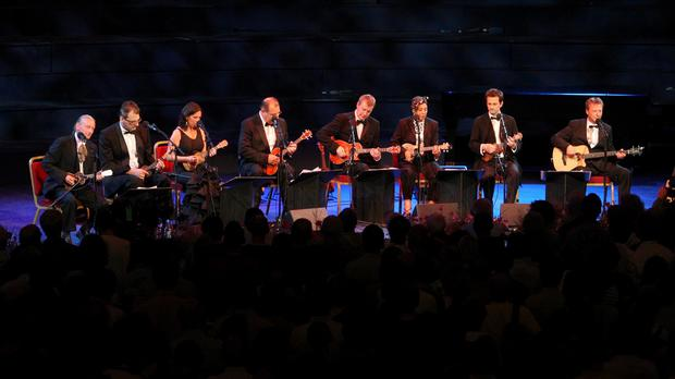 The Ukulele Orchestra Of Great Britain performed at the BBC Proms, at the Royal Albert Hall