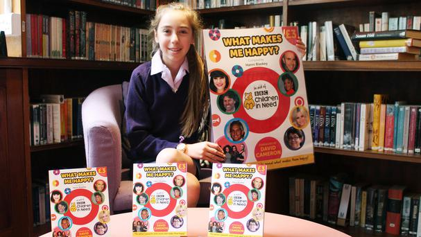 Schoolgirl Hanni Blaskey has persuaded 100 celebrities to reveal the secret of what makes them happy