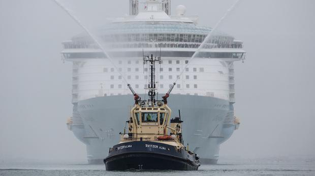 Largest cruise ship sails into UK - Independent ie