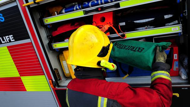 Two fire engines were deployed