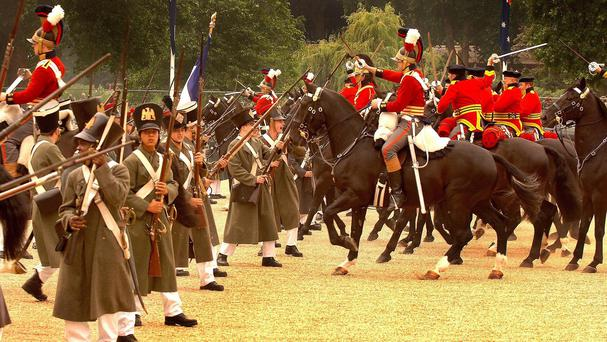 A re-enactment of the Battle of Waterloo in 1815