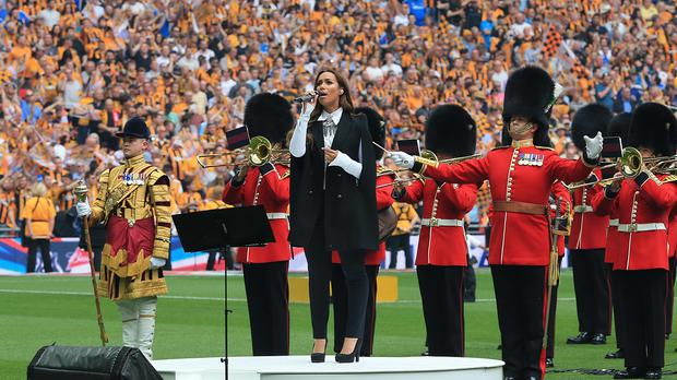 Leona Lewis sang Abide With Me before last year's FA Cup Final