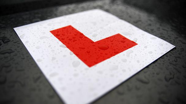 A learner driver has been arrested over the alleged theft of an instructor's car