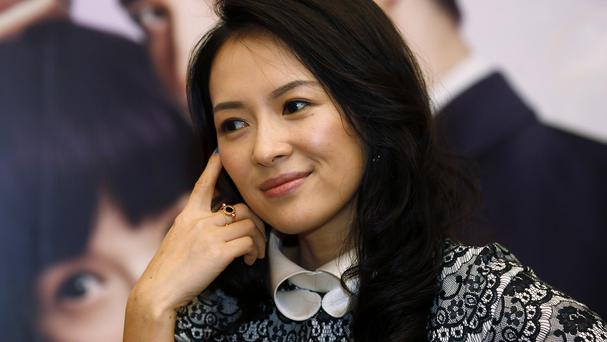 Chinese actress Zhang Ziyi is engaged after her boyfriend used a drone to deliver the ring and popped the question (AP)