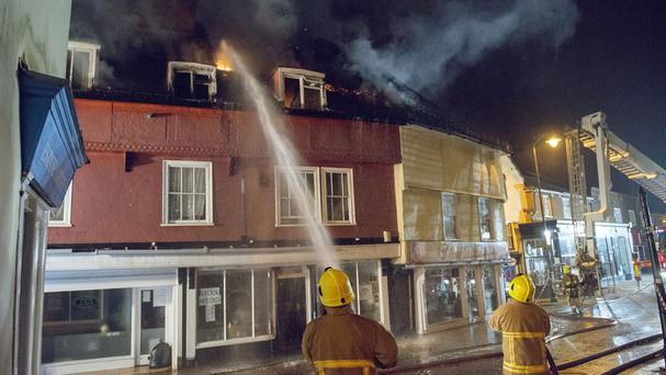 Firefighters attend a fire in Braintree, Essex (Essex Fire and Rescue Service/PA)