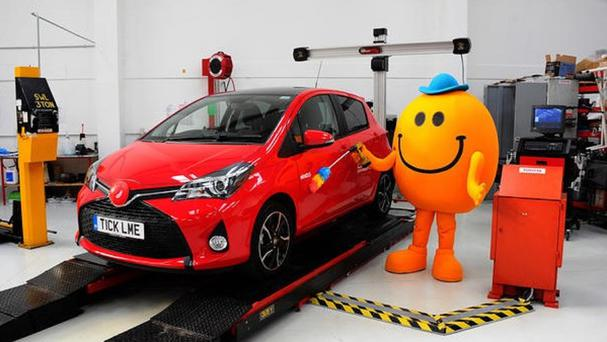 Mr Tickle just the car a tickle (Red Nose Day/PA)