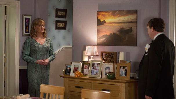 There was a red herring moment during the episode which appeared to suggest that Jane Beale may have been responsible for Lucy's death (BBC/PA)