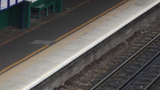 A family railway attraction has apologised after one of its platforms featured in a pornographic film