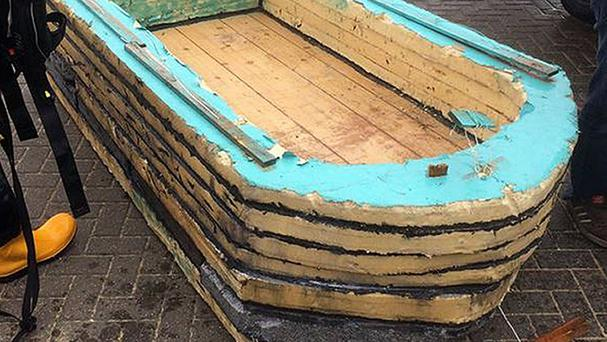 The boat was made by two men for less than 10 pounds (Clacton RNLI/PA Wire)