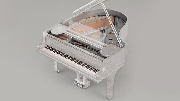 A custom-made crystal piano which features half a million Swarovski crystals (Louis James-Parker/Goldfinch/PA)