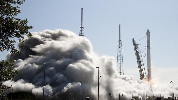 The Falcon 9 SpaceX rocket lifts off from launch complex 40 at the Cape Canaveral Air Force Station (AP)