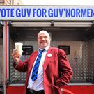 Comic Al Murray, also known as the Pub Landlord, is standing for election
