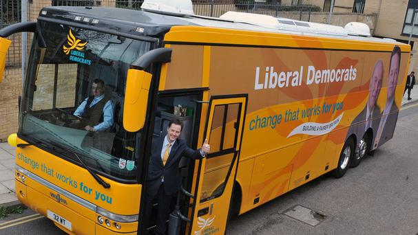 The Lib Dem battlebus has broken down twice already