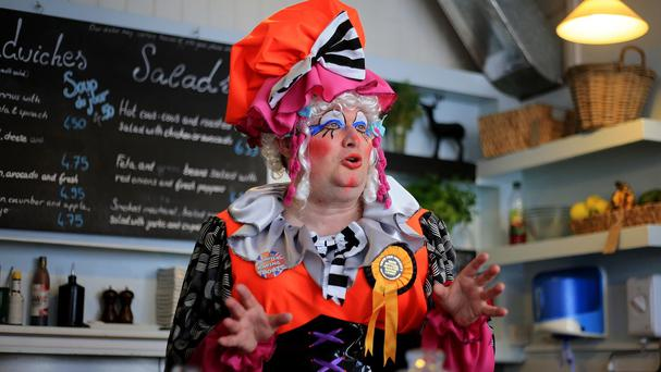 Dame Jon Dixon, the Official Monster Raving Loony Party candidate for the Hove and Portslade constituency