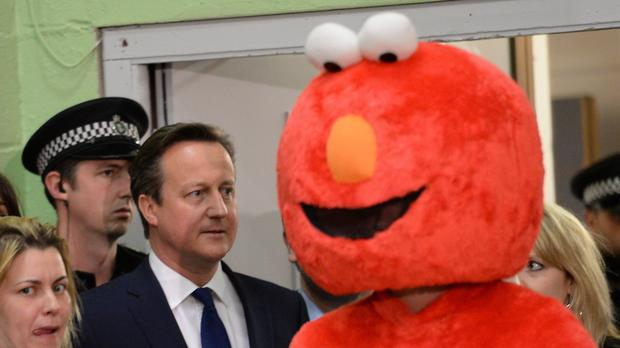 David Cameron was joined on the stage for the declaration of the Witney constituency result by Elmo