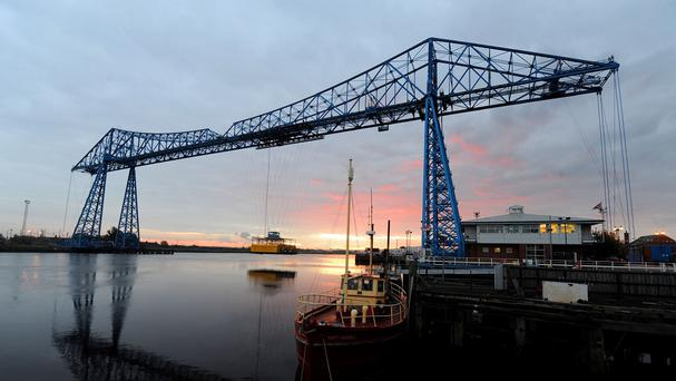 The Transporter Bridge at Middlesbrough whose footballers hope to cross the divide and reach the Premier League